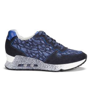 Ash Women's Love Lace Softy/Flower Lace Trainers - Indigo/Saphir