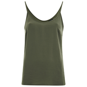 VILA Women's Melli Singlet Top - Ivy Green