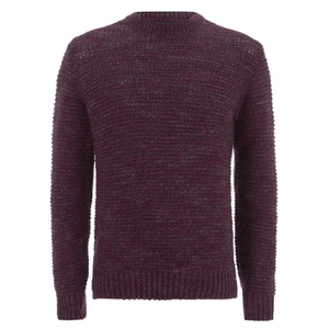 Paul Smith Jeans Men's Chunky Crew Neck Knit Jumper - Damson