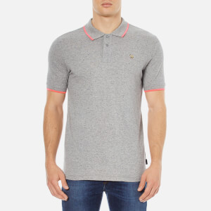 Paul Smith Jeans Men's Zebra Tipped Polo Shirt - Grey Marl