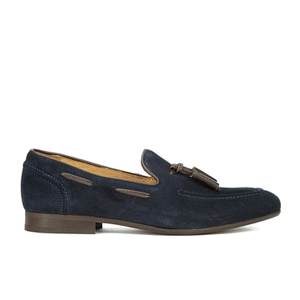 H Shoes by Hudson Men's Pierre Suede Tassel Loafers - Navy