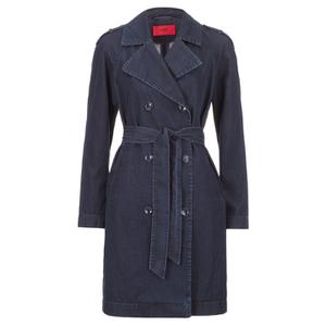 HUGO Women's Mintu Trench Coat - Blue