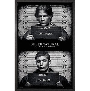 Supernatural Mug Shots - Framed Maxi Poster