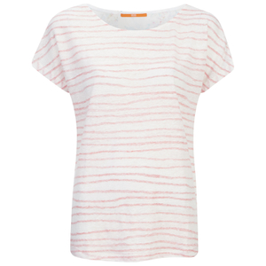 BOSS Orange Women's Tamixi Stripe T-Shirt - Orange