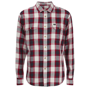 OBEY Clothing Men's Ridley Woven Long Sleeve Shirt - Red Check
