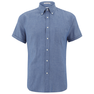 GANT Rugger Men's Chambray Short Sleeve Shirt - Indigo