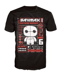 Camiseta Pop! Disney Big Hero 6 Baymax - Negro