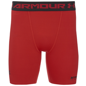 Under Armour Heren HeatGear Compressie Shorts - Rood