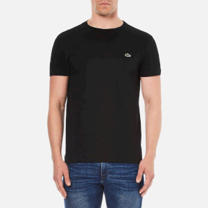 Lacoste Men's Short Sleeve Crew Neck T-Shirt - Black