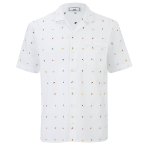 AMI Men's Tailored Collar Short Sleeve Shirt - White