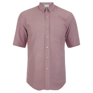 Our Legacy Men's Short Sleeve Classic Shirt - Pink Silk