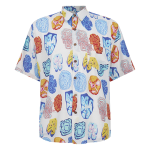 Our Legacy Men's Short Sleeve Tropic Shirt - White Graffiti