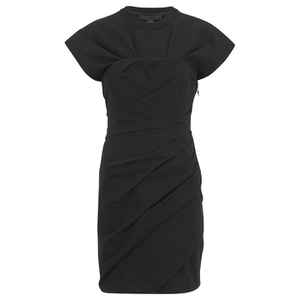 Alexander Wang Women's Draped Bustier T-Shirt Dress - Onyx