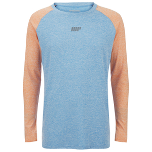 Myprotein Men's Long Sleeve Loose Fit Training Top - Blue & Orange
