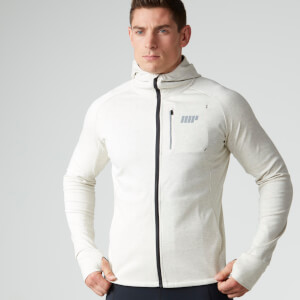 MyProtein Men's Premium Training Zip Hoodie – White & Blue