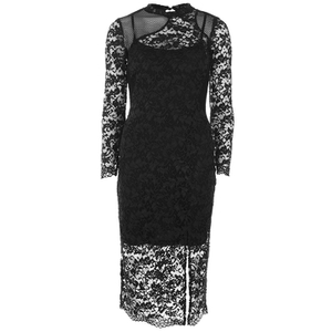 French Connection Women's Lace Full Length Dress - Black