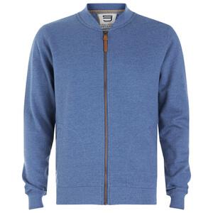 Smith & Jones Men's Brewer Zipped Sweatshirt - True Blue Marl