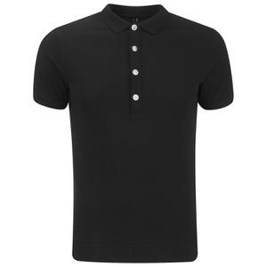 Versus Versace Men's Back Logo Polo Shirt - Black