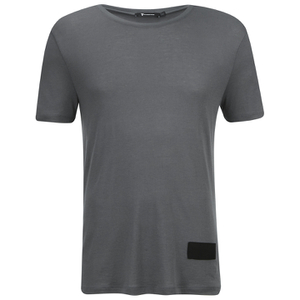 T by Alexander Wang Men's Short Sleeve T-Shirt With Silk Patch - Slate