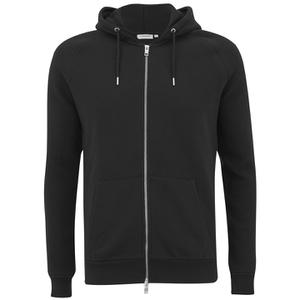 J.Lindeberg Men's Zipped Hooded Sweatshirt - Black