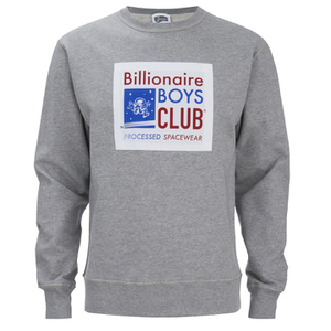 Billionaire Boys Club Men's Processed Reversible Crew Neck Sweatshirt - Heather Grey