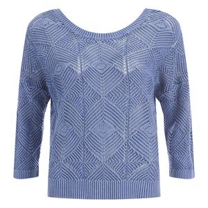 ONLY Women's Noah Short Knitted Pullover - Vintage Indigo