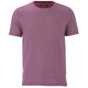 Lyle & Scott Vintage Men's Crew Neck Birdseye T-Shirt - Ruby