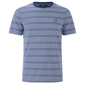 Lyle & Scott Vintage Men's Crew Neck Oxford Stripe T-Shirt - Present Blue
