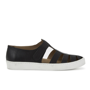 YMC Men's Punk Leather Sandal Trainers - Black