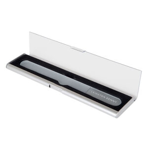 Leighton Denny Large Crystal Nail File - Aluminium Case