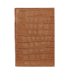 Aspinal of London Women's Refillable Journal A5 Lined - Tan Croc
