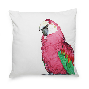 Bark & Blossom Pink Parrot Cushion