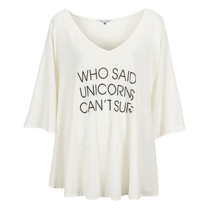 Wildfox Women's Unicorn Surfer Tahiti Tunic - White