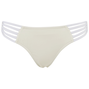 Paolita Women's Solid Golden Hind Bikini Bottoms - Cream