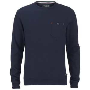 Produkt Men's Textured Crew Neck Sweatshirt - Navy Blazer