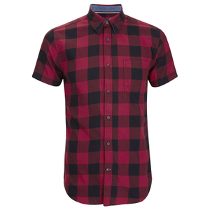Produkt Men's Short Sleeve Checked Shirt - Rio Red