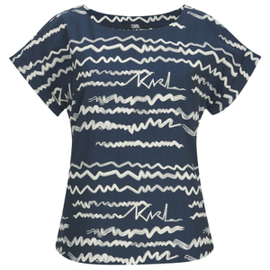 Karl Lagerfeld Women's Jacquard Scribble Top - Blue