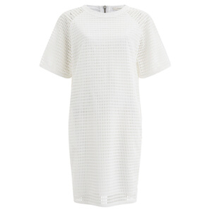 Paul by Paul Smith Women's Perforated Shift Dress - White