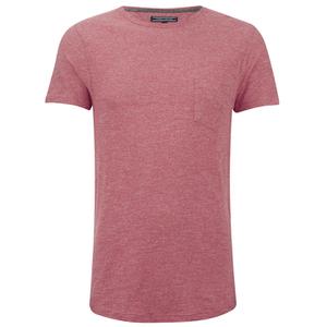 Tommy Hilfiger Men's Crew Neck Pocket T-Shirt - Cranberry