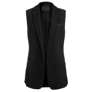 Alexander Wang Women's Fitted Vest Net Overlay Blazer - Pitch