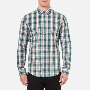 BOSS Orange Men's Edipoe Check Shirt - Green
