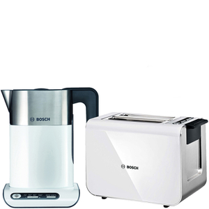 Bosch Styline Collection Kettle and Toaster Bundle - White