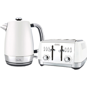 Breville Strata Collection Kettle and Toaster Bundle - White