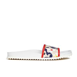 Jil Sander Navy Women's Graphic Flowers Slide Sandals - Red/White