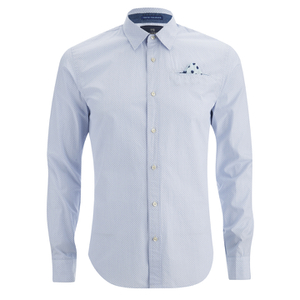 Scotch & Soda Men's Poplin Shirt - Blue