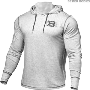 Better Bodies Men's Long Sleeve Cover Up Hoody - White Melange