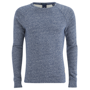 Scotch & Soda Men's Melange Crew Neck Sweatshirt - Navy Melange