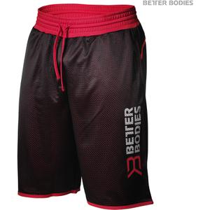 Better Bodies Men's Print Mesh Shorts - Black/Red