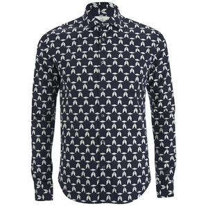 Scotch & Soda Men's Patterned Long Sleeved Shirt - Multi