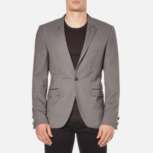 HUGO Men's Arenz Single Button Blazer - Grey